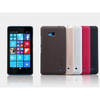 Пластиковый матовый нескользящий премиум чехол для Microsoft Lumia 640