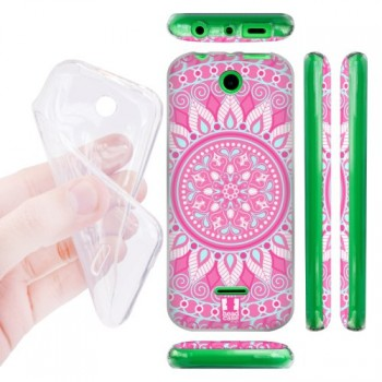 Силиконовый матовый дизайнерский чехол с эксклюзивной серией принтов Mandala для Nokia 225 (изготовление на заказ)
