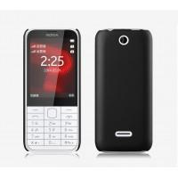 Пластиковый матовый непрозрачный чехол для Nokia 225 Черный