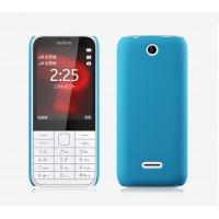Пластиковый матовый непрозрачный чехол для Nokia 225 Голубой