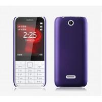 Пластиковый матовый непрозрачный чехол для Nokia 225 Фиолетовый
