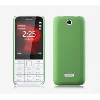Пластиковый матовый непрозрачный чехол для Nokia 225 Зеленый