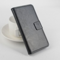 Чехол портмоне подставка с защелкой на силиконовой основе для Microsoft Lumia 540 Черный