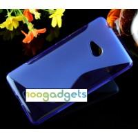 Силиконовый S чехол для Microsoft Lumia 540 Синий