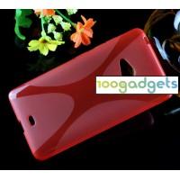 Силиконовый X чехол для Microsoft Lumia 540 Красный