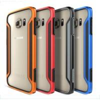 Гибридный нескользящий ультратонкий бампер силикон/поликарбонат для Samsung Galaxy S6 Edge