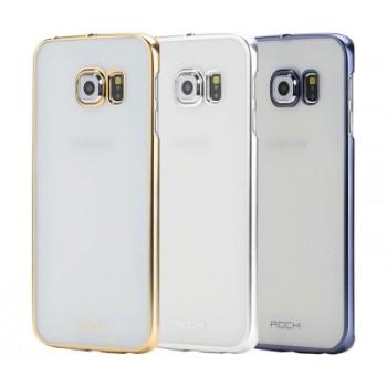 Пластиковый матовый полупрозрачный чехол для Samsung Galaxy S6 Edge