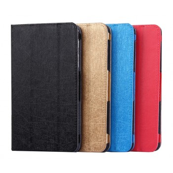 Текстурный сегментарный чехол подставка с рамочной защитой для Huawei MediaPad T1 7.0