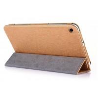 Текстурный сегментарный чехол подставка с рамочной защитой для Huawei MediaPad T1 7.0/T2 7.0 Бежевый