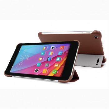 Чехол флип подставка сегментарный на пластиковой основе для Huawei MediaPad T1 7.0