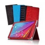 Чехол подставка с рамочной защитой серия Croco Pattern для Huawei MediaPad T1 10.0
