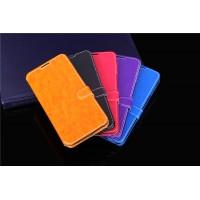 Чехол портмоне подставка на силиконовой основе с защелкой для Alcatel One Touch Idol 3 (5.5)
