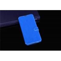 Чехол портмоне подставка на силиконовой основе с защелкой для Alcatel One Touch Idol 3 (5.5) Синий