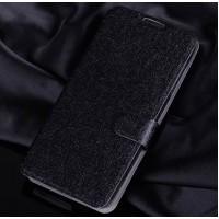 Текстурный чехол портмоне подставка с защелкой для Alcatel One Touch Idol 3 (5.5) Черный