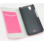 Чехол флип подставка с внутренним карманом на пластиковой основе для Explay Air