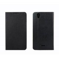 Чехол флип подставка с внутренним карманом на пластиковой основе для Explay Air Черный