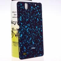 Пластиковый матовый дизайнерский чехол с голографическим принтом Звезды для Sony Xperia C4 Голубой