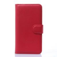 Чехол портмоне подставка с защелкой для Explay Craft Красный