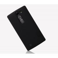 Пластиковый матовый нескользящий премиум чехол для LG Magna Черный