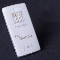 Силиконовый транспарентный чехол для LG Magna Белый