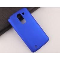 Пластиковый матовый непрозрачный чехол для LG Spirit Синий