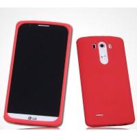 Силиконовый матовый премиум софт-тач чехол для LG G3 Красный