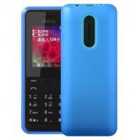 Силиконовый матовый непрозрачный чехол для Nokia 105