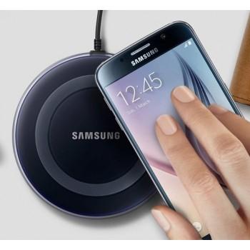 Оригинальное беспроводное qi зарядное устройство Samsung с встроенным LED-индикатором и нескользящими поверхностями