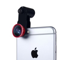 Набор внешних линз из 3 шт (Макросъемка, fish eye, широкоугольная съемка) на клипсе с возвратной пружиной улучшенного крепления (только для гаджетов толщиной до 9.9 мм) для Nokia Asha 500 (Dual Sim)