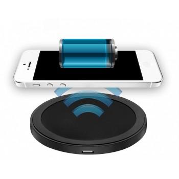 Беспроводное круглое qi зарядное устройство 69х69 мм (5 В, 1.5 А)