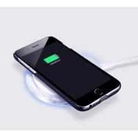 Пластиковый матовый чехол со встроенным чипом беспроводной qi зарядки для Iphone 6