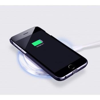 Пластиковый матовый чехол со встроенным чипом беспроводной qi зарядки для Iphone 6 Plus