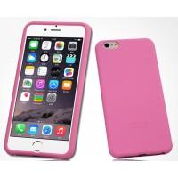 Силиконовый матовый софт-тач премиум чехол для Iphone 6 Розовый