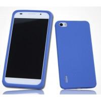 Силиконовый софт-тач премиум чехол для Huawei Honor 6 Синий