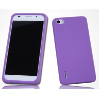 Силиконовый софт-тач премиум чехол для Huawei Honor 6 Фиолетовый