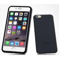 Силиконовый матовый софт-тач премиум чехол для Iphone 6 Plus Черный