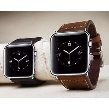 Кожаный винтажный ремешок с металлическим коннектором для Apple Watch 38мм