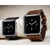 Кожаный винтажный ремешок с металлическим коннектором для Apple Watch 42мм