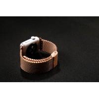 Сетчатый крупнозернистый браслет из нержавеющей гипоаллергенной стали для Apple Watch 42мм