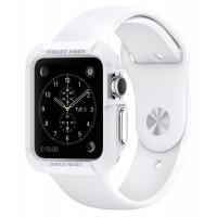 Силиконовый ударостойкий чехол с дополнительной защитой задней поверхности для Apple Watch 38мм