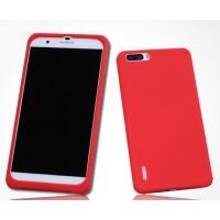 Силиконовый матовый софт-тач премиум чехол для Huawei Honor 6 Plus Красный