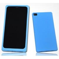 Силиконовый матовый софт-тач премиум чехол для Huawei P8 Голубой