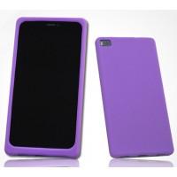 Силиконовый матовый софт-тач премиум чехол для Huawei P8 Фиолетовый