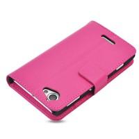Чехол портмоне-подставка для Sony Xperia L Розовый