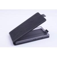 Чехол вертикальная книжка на силиконовой основе с магнитной застежкой для Lenovo P70 Черный