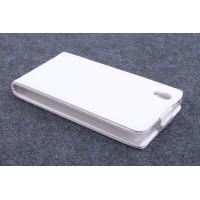 Чехол вертикальная книжка на силиконовой основе с магнитной застежкой для Lenovo P70 Белый