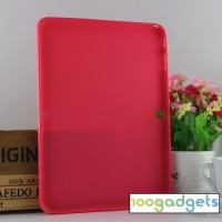 Силиконовый матовый чехол для Samsung Galaxy Tab 4 10.1 Красный