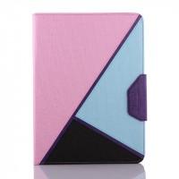 Дизайнерский чехол подставка с внутренними отсеками на силиконовой основе для Samsung Galaxy Tab 4 10.1 Розовый