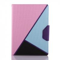 Дизайнерский чехол подставка с внутренними отсеками для Samsung Galaxy Tab S 10.5 Розовый