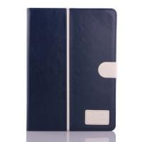 Чехол подставка с внутренними отсеками и магнитной защелкой для Samsung Galaxy Tab S 10.5 Синий